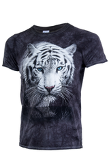 vintage tye dye tee shirt with tiger graphic
