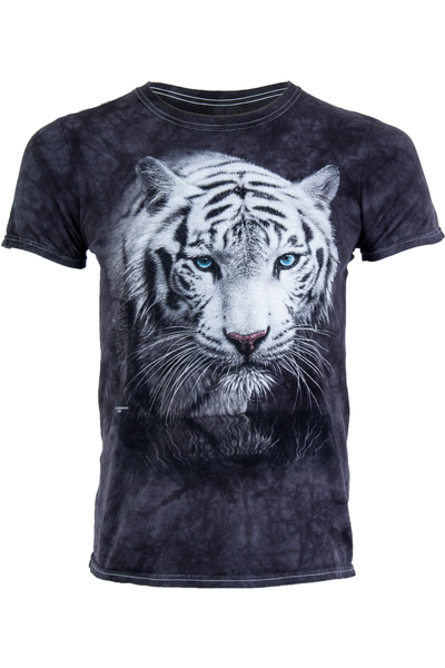 Tiger tee shirt featuring black tye dye