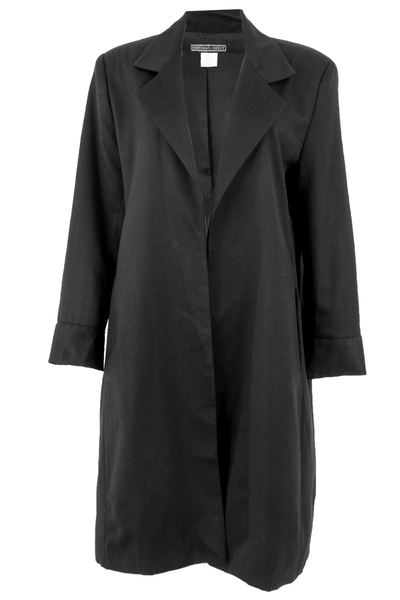 Black vintage duster coat