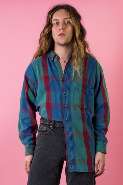 80's flannel shirt