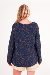 navy blue vintage sweater