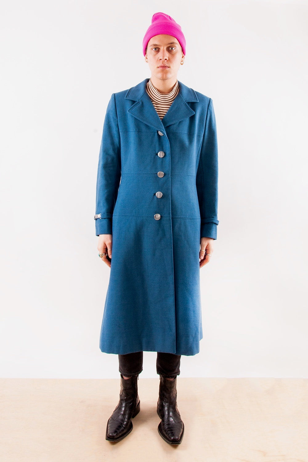 Retro Wool-Blend Overcoat