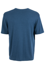 vintage t-shirt in blue with ribbing and crewneck