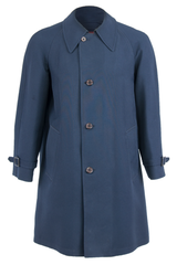 Vintage dark blue coat with button closure