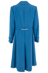 blue vintage coat with silver embellishment