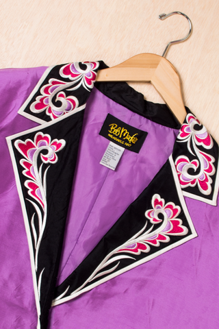 vintage Bob Mackie Silk Jacket in purple
