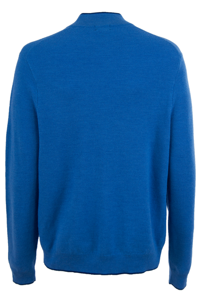 Vintage blue sweater with mock neck collar