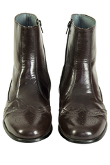 mens brown leather chelsea boots