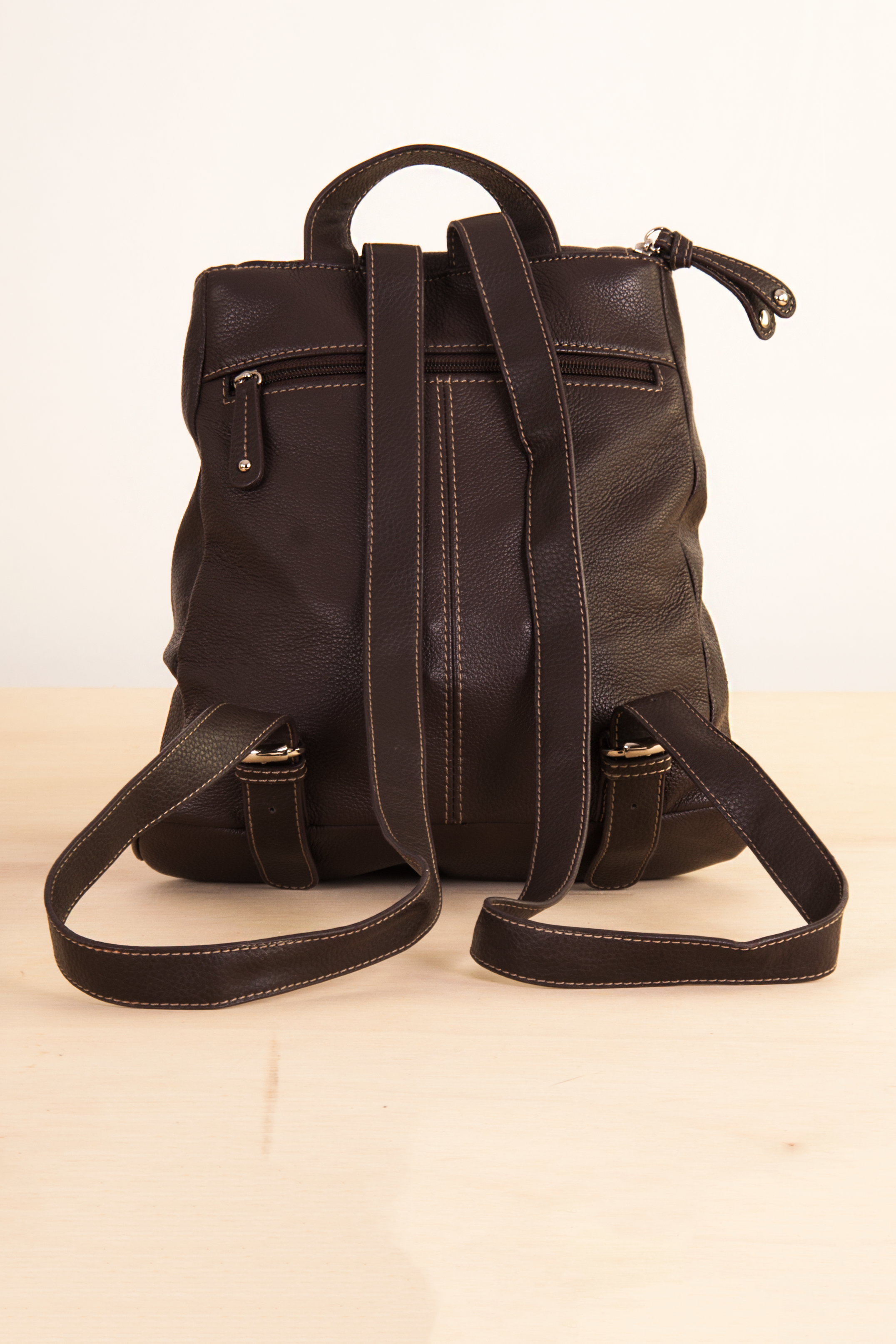 Vintage Brown Leather Backpack