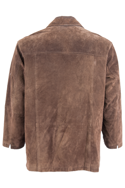 Vintage brown suede jacket with cut outs at sleeve