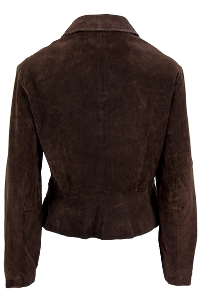 vintage brown suede jacket