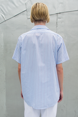vintage striped light blue shirt