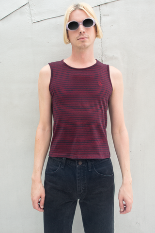 vintage Calvin Klein striped Tank top in red and navy