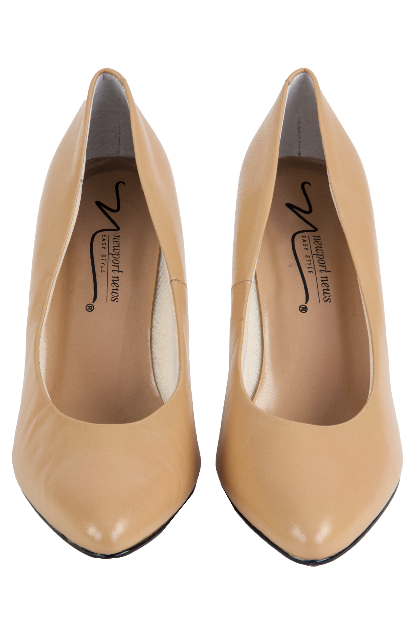 tan high heels with pointed toe