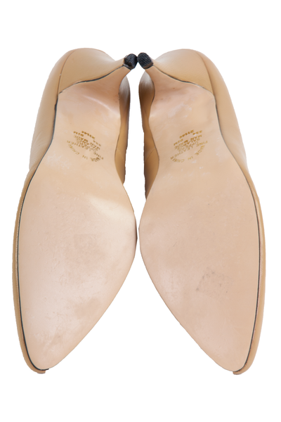 tan pointed toe soles