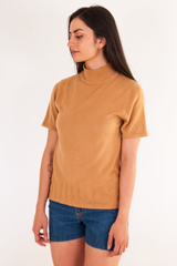 Short Sleeve Mock Neck Sweater