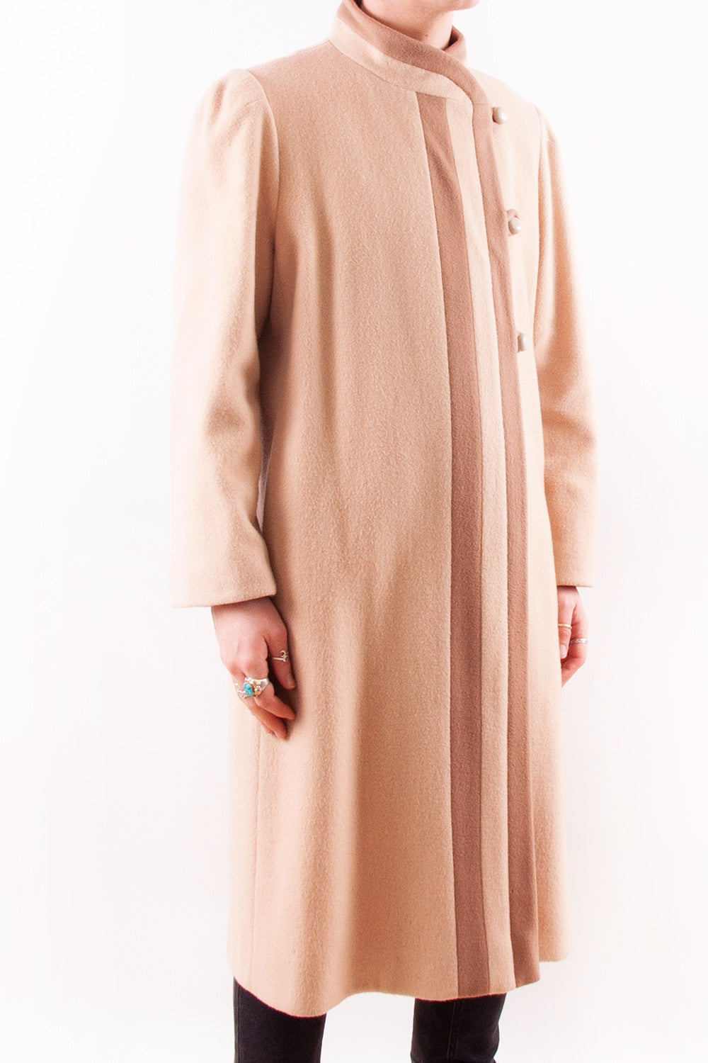 Camel Stripe Overcoat