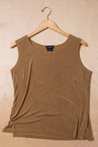 vintage camel colored tank top