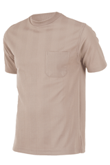 Camel mock neck t-shirt