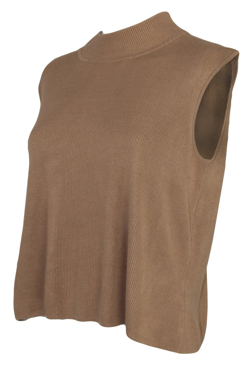 Vintage camel mock neck top