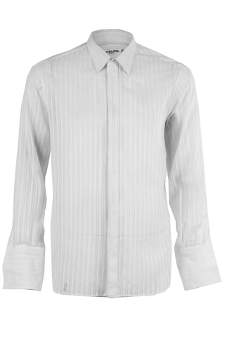 vintage Céline button up shirt in white stripes