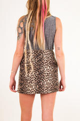 vintage cheetah mini skirt