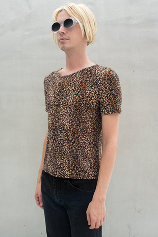 vintage cheetah print top