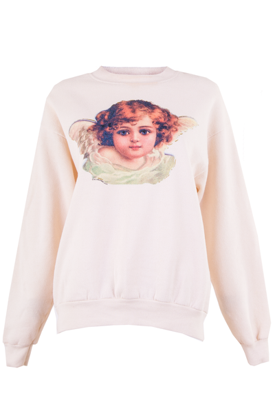 angel sweatshirt with cherub graphic