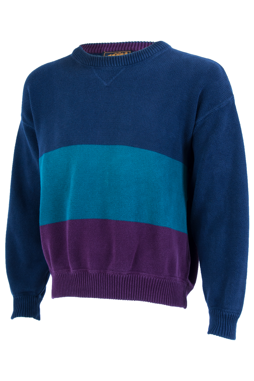 vintage blue and purple striped sweater