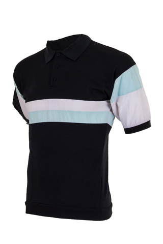 contrast striped polo shirt