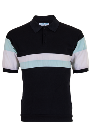 vintage color block polo shirt