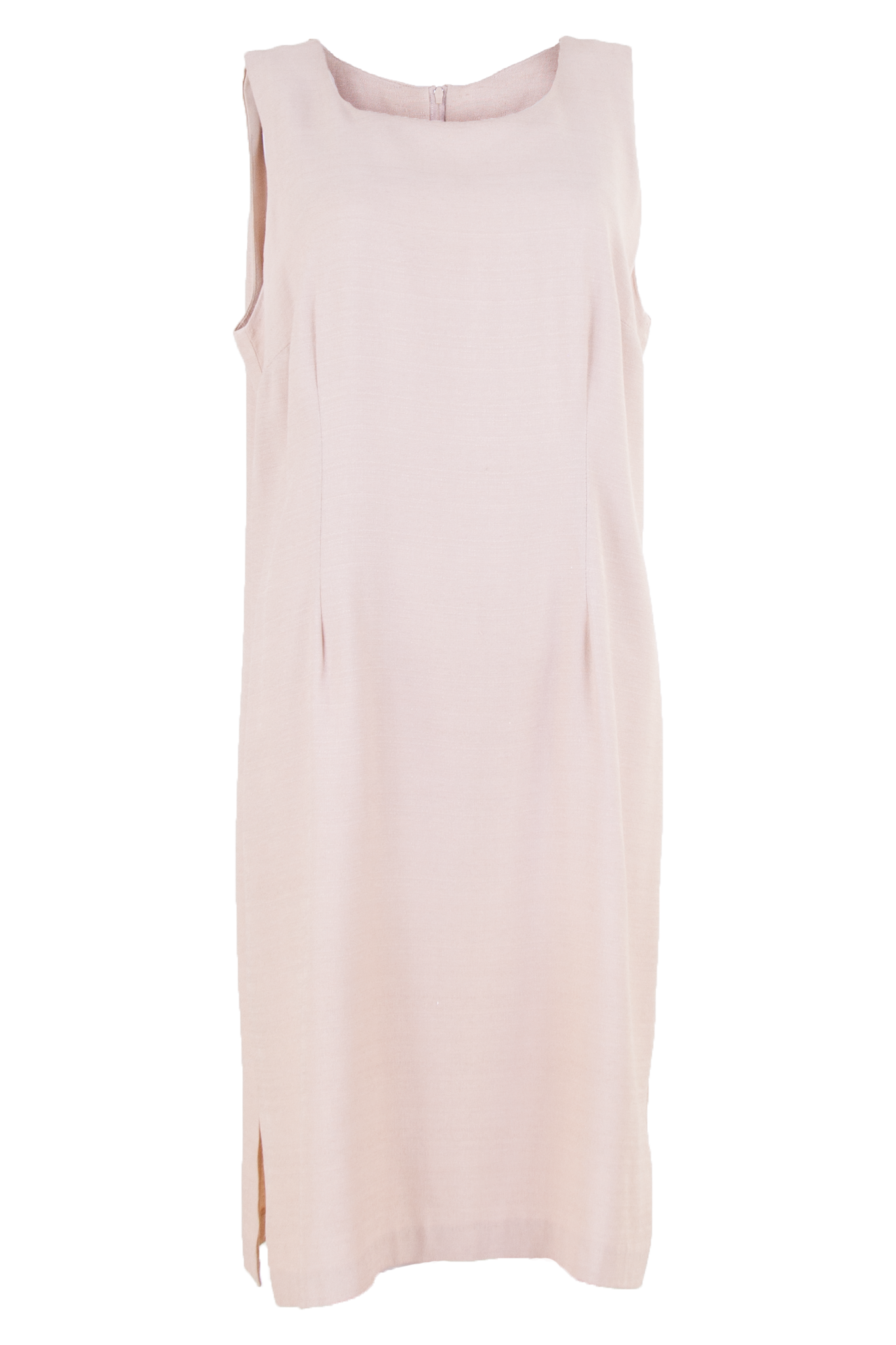 Cream crepe sleeveless dress