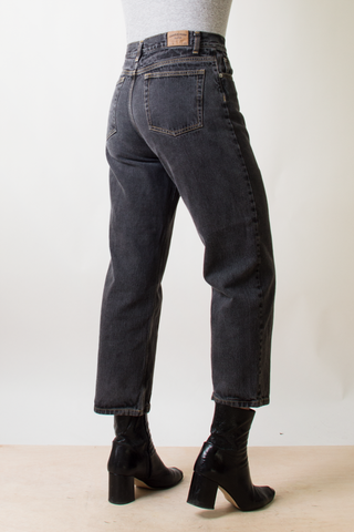 vintage dark grey cropped jeans