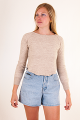 vintage beige cropped sweater