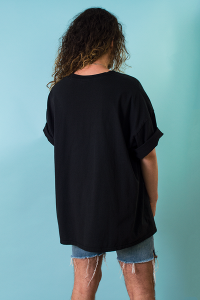 oversized vintage black t-shirt