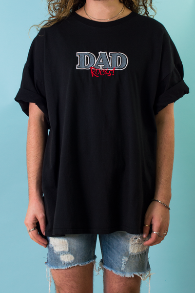 vintage daddy t-shirt in black