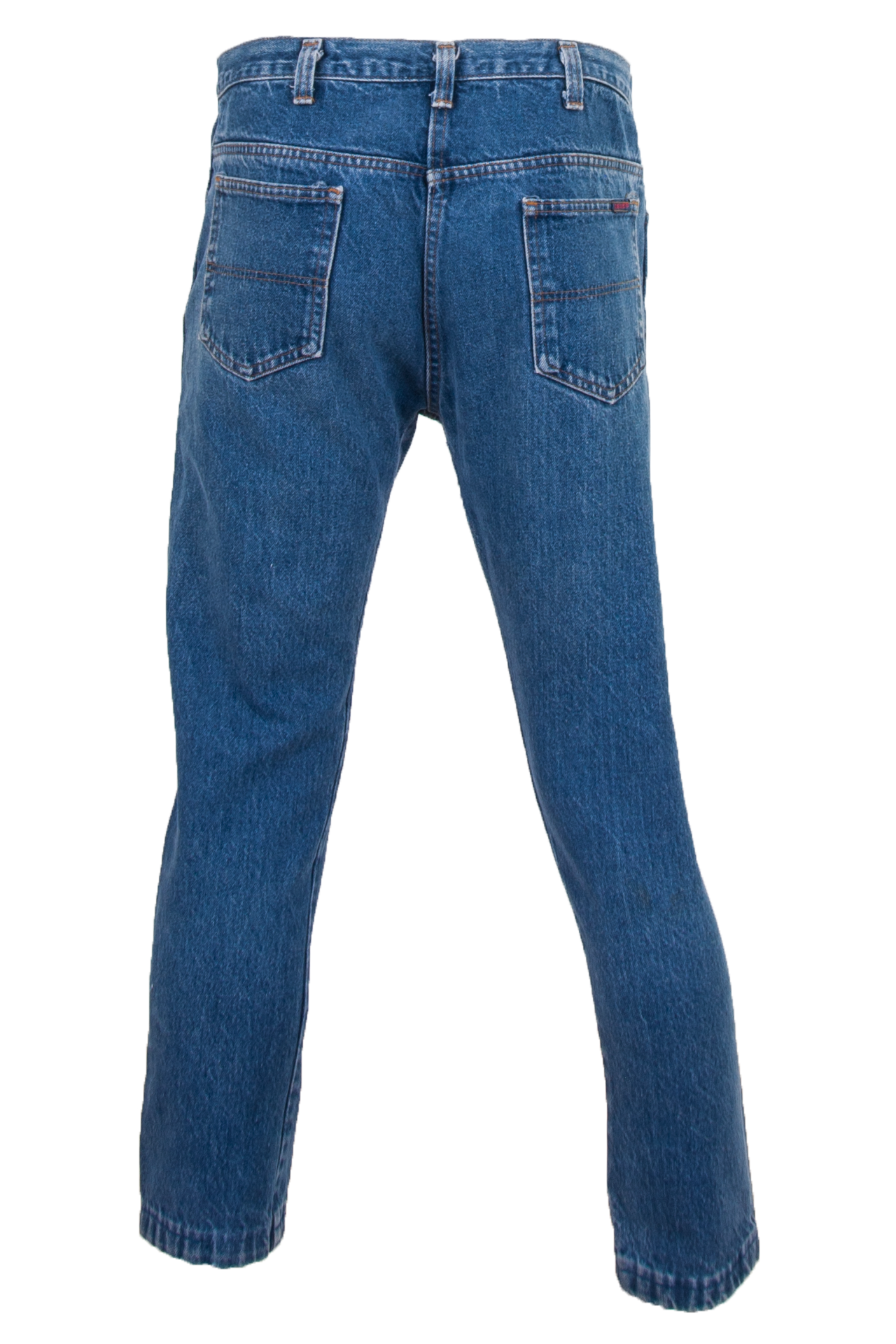 vintage blue jeans with cropped leg