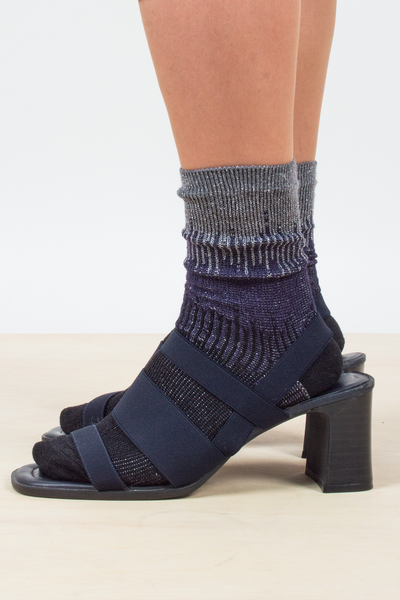 vintage dark blue strappy sandal heels from the 90s