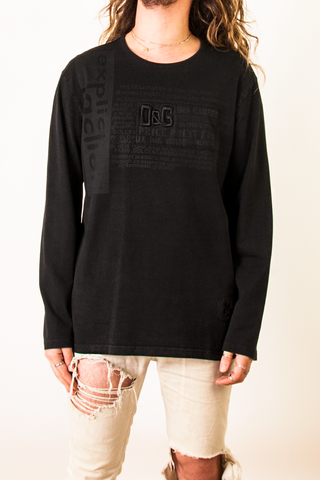 D&G black long sleeve shirt