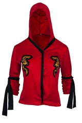 dragon hoodie with embellished sleeve