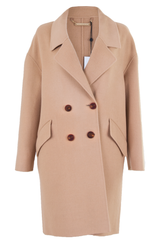 dvf double-breasted camel coat