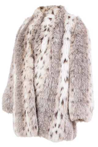 winter white fur coat