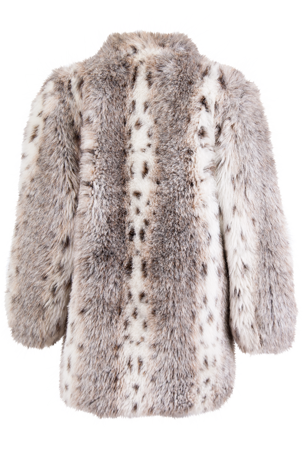 vintage fur coat in winter white
