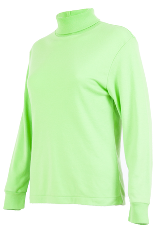 vintage neon green sweater with mock neck