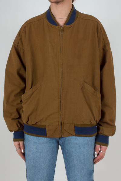 vintage brown bomber jacket