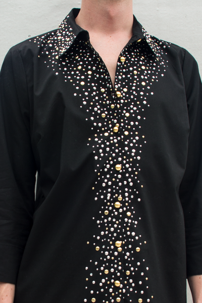 embellished button-up shirt