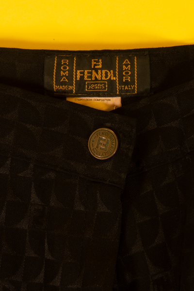 vintage fendi tag in black pants