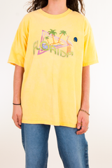 vintage yellow t-shirt with retro Florida graphic