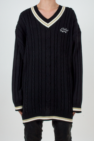 vintage oversized fubu sweater in black