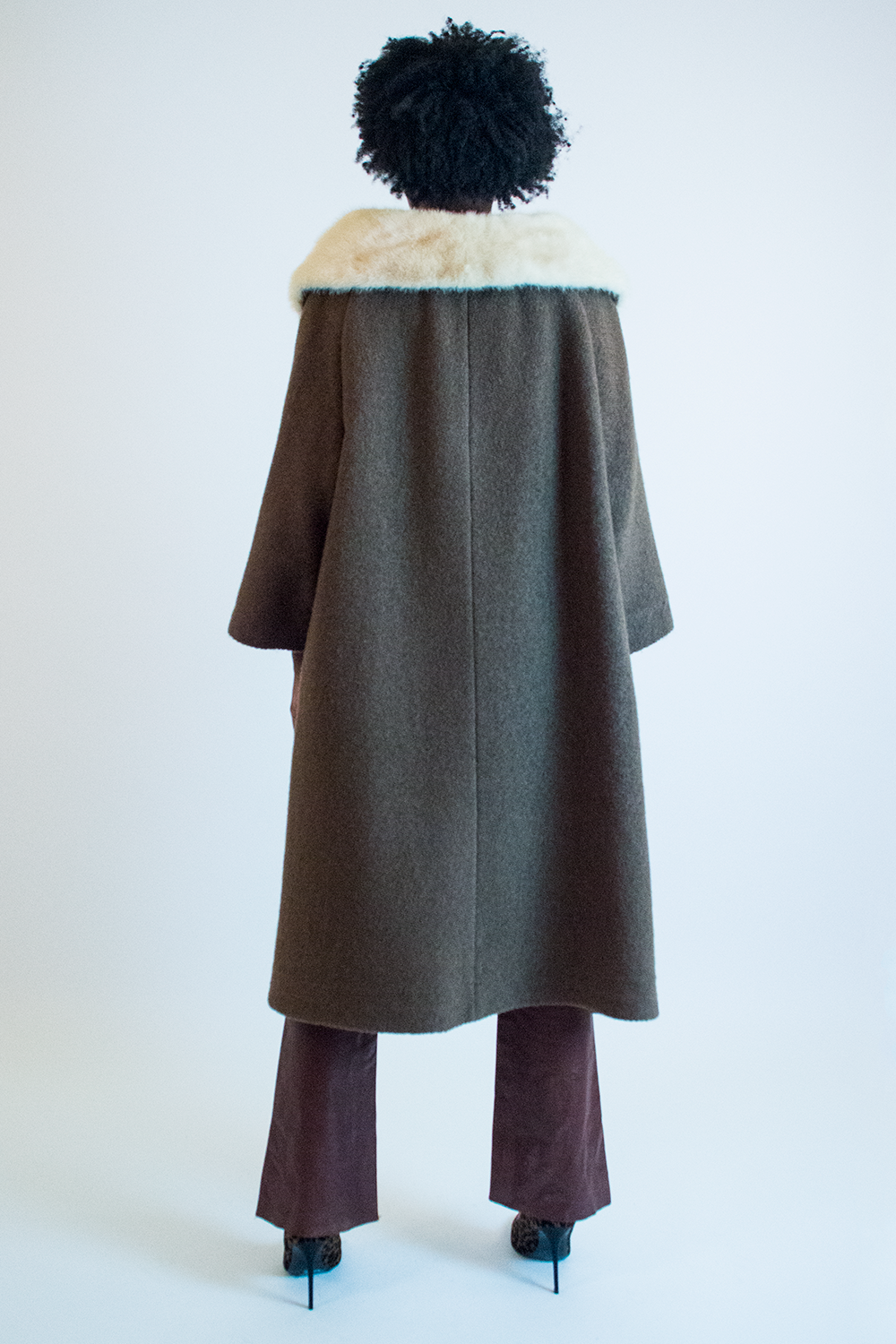 vintage fur trimmed winter coat